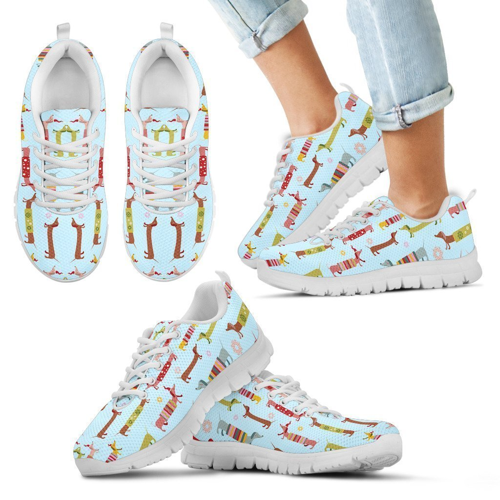 Dachshund Christmas Lover Kid's Sneakers - Amaze Style™-