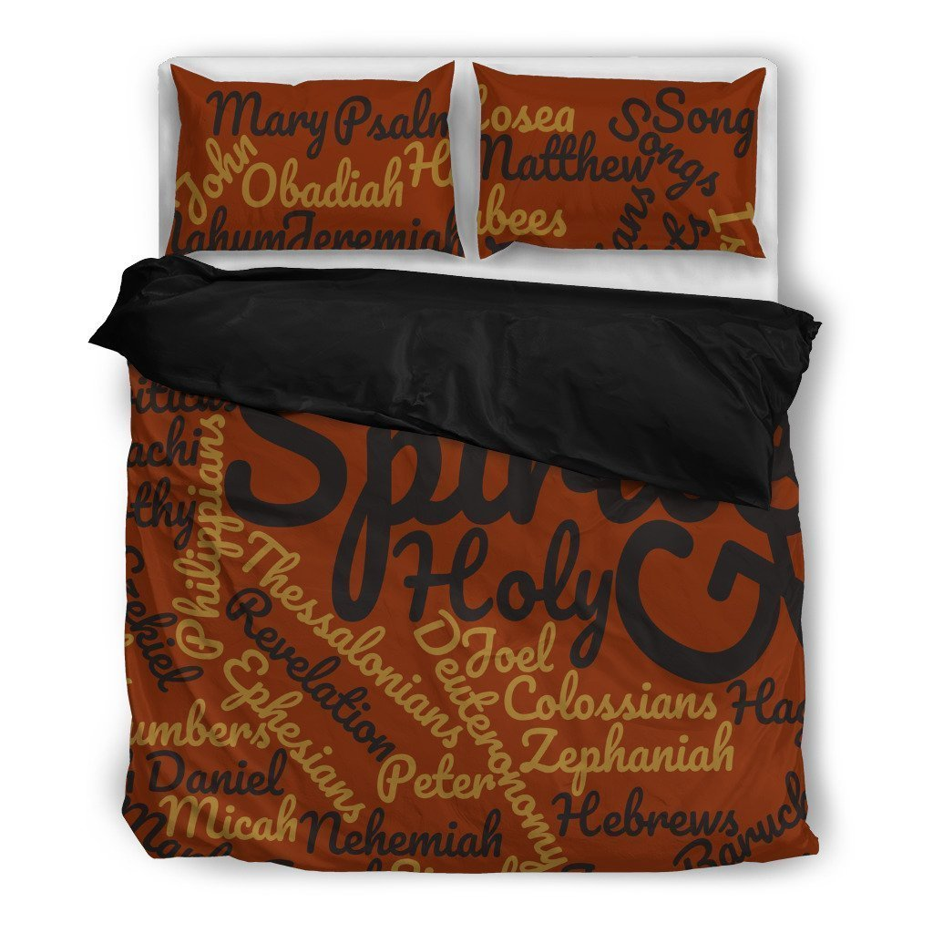Cool Brown Holy Bible Books Black Bedding Set - Amaze Style™