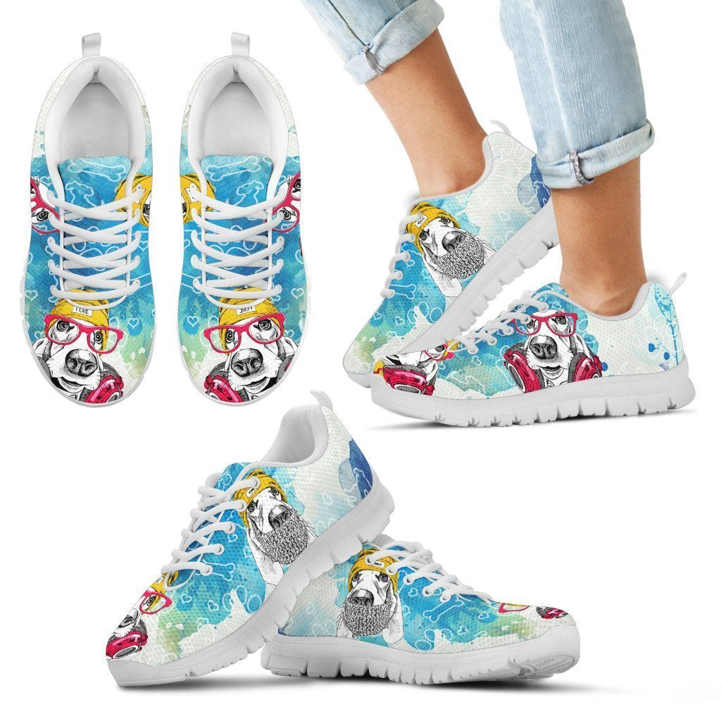 Basset Hound Kid's Sneakers - Amaze Style™-