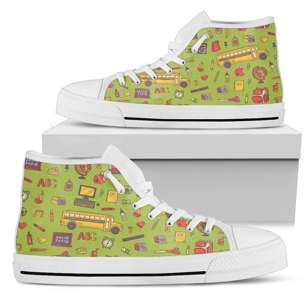 Back 2 School Green High Top Sneaker - Amaze Style™