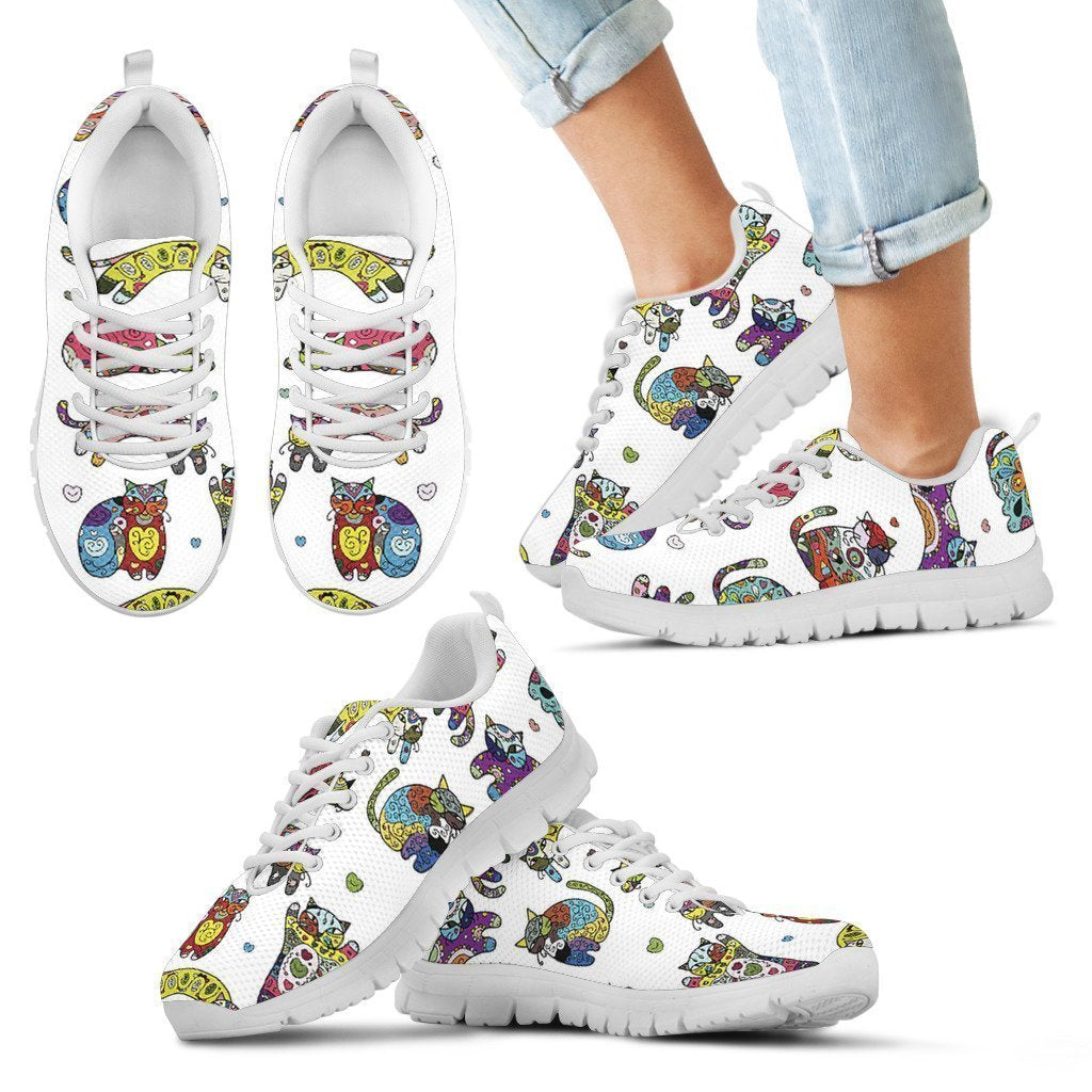 Abstract Cats Kid's Sneakers - Amaze Style™-