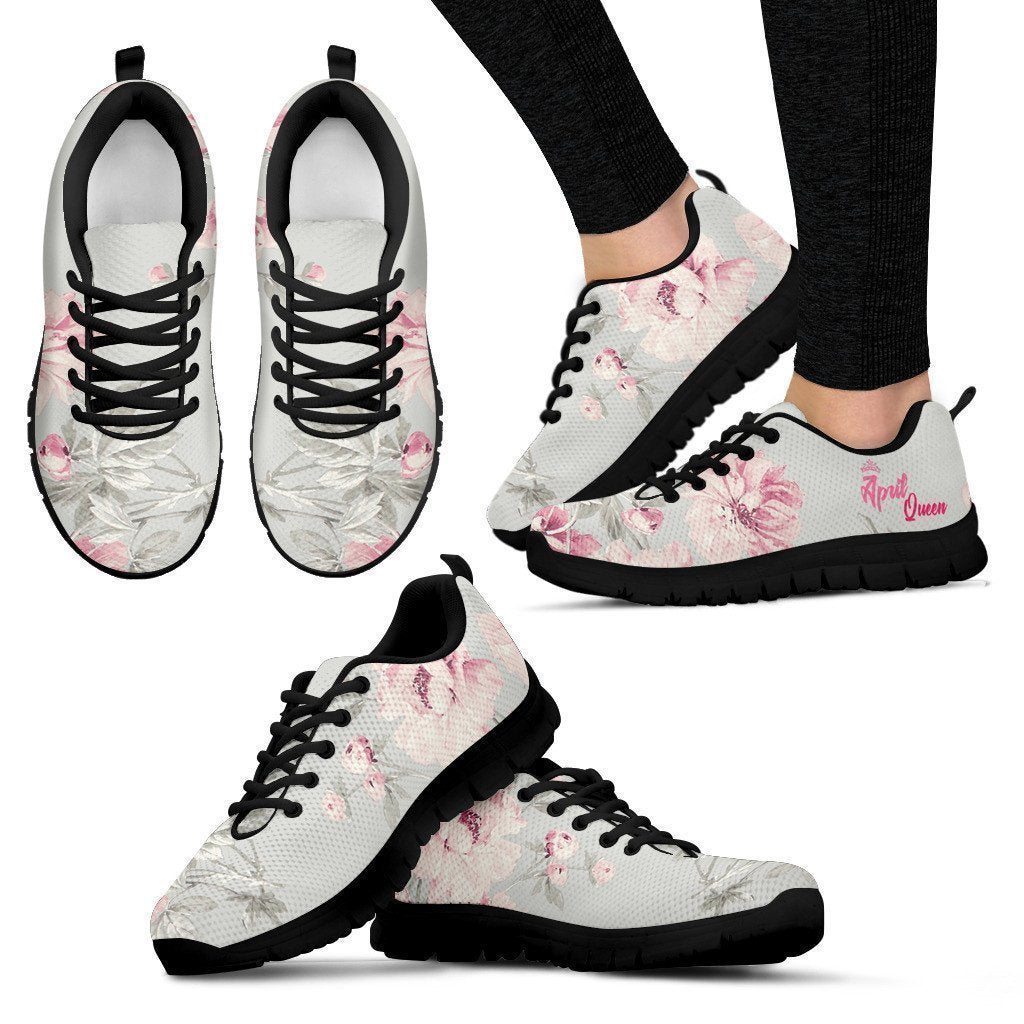 APRIL QUEEN FLORAL SNEAKER - Amaze Style™