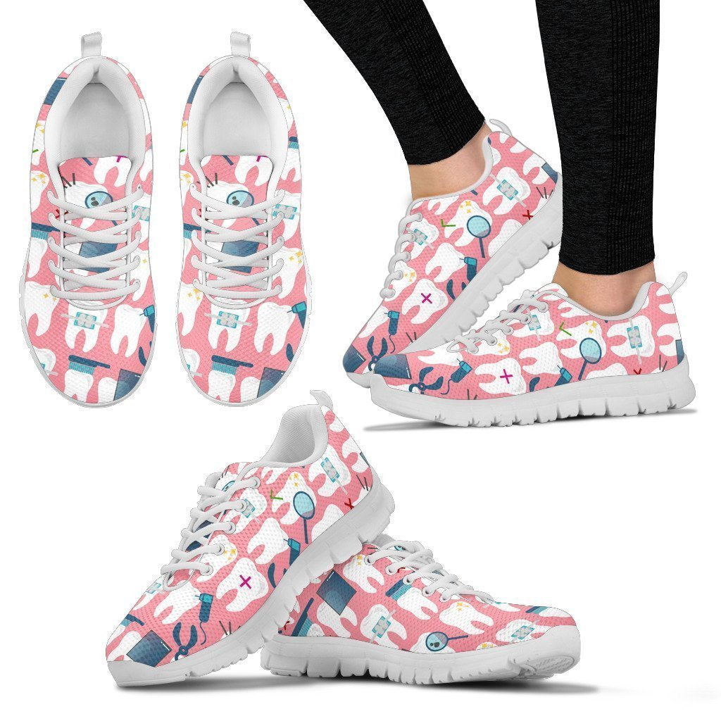Dental Lovers Handcrafted Premium Mesh Women's Sneakers - Amaze Style™