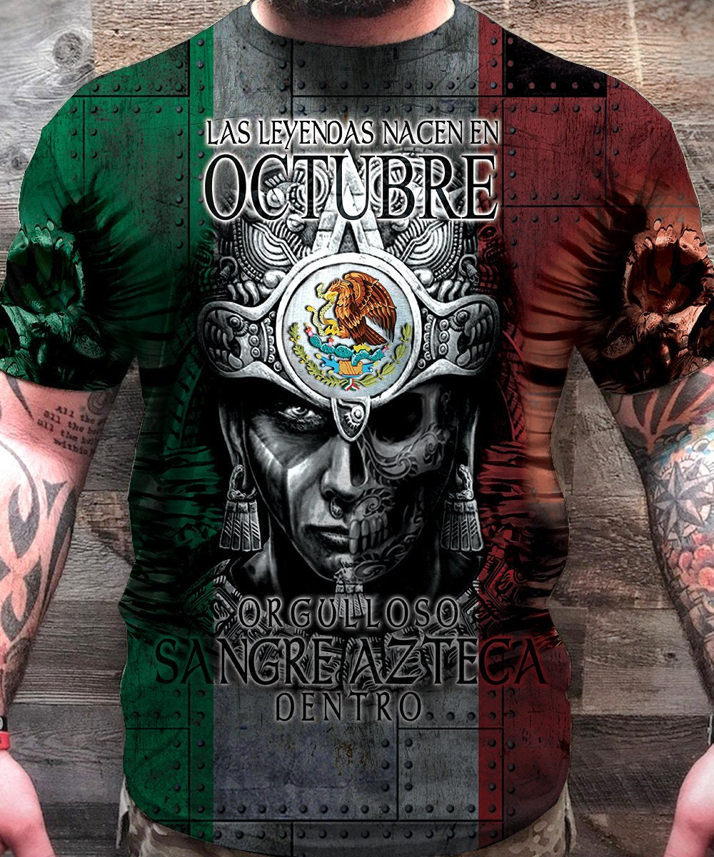 3D All Over Aztec Warrior Mexican 10 Hoodie - Amaze Style™-Apparel