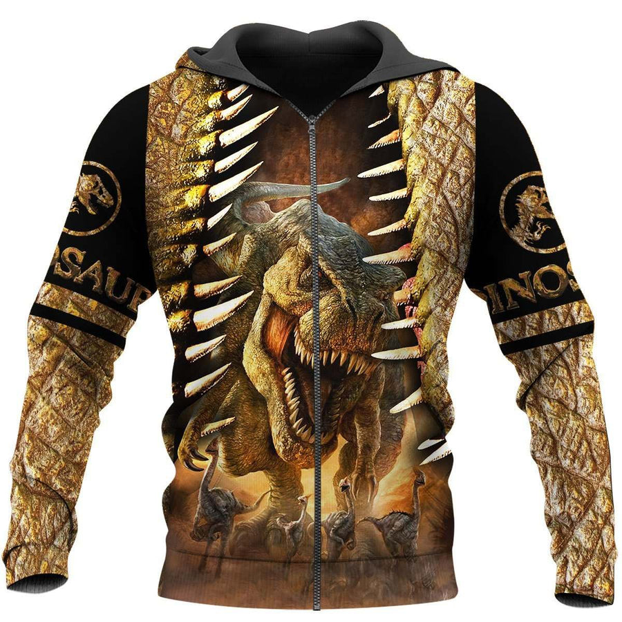 DINOSAUR ART 3D ALL OVER PRINTED SHIRTS MP896 - Amaze Style™-Apparel
