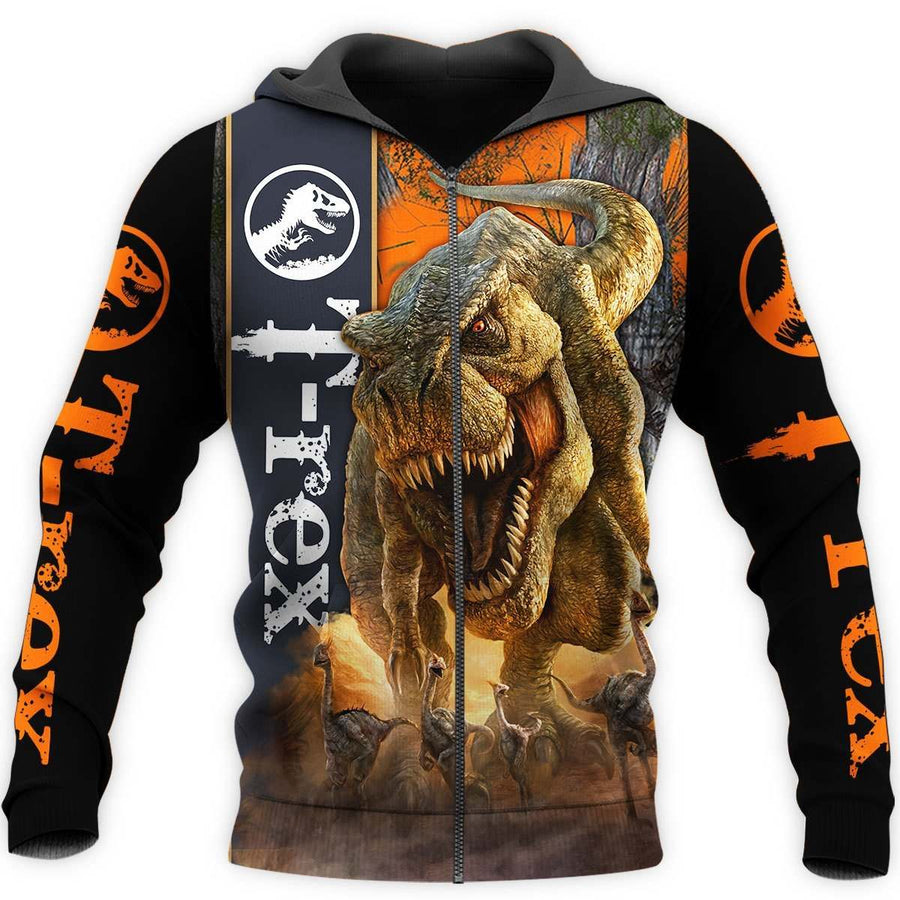 DINOSAUR T-REX 3D ALL OVER PRINTED SHIRTS MP898 - Amaze Style™-Apparel