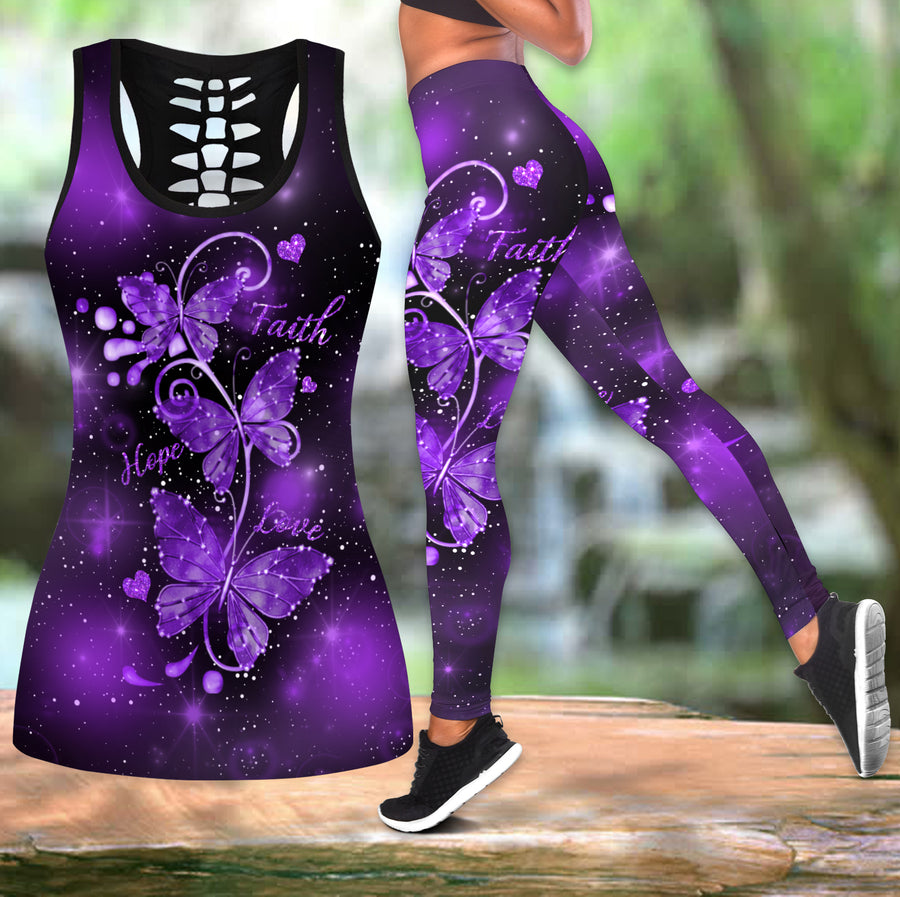 Beautiful Butterfly Combo Tank + Legging TR090402B - Amaze Style™-Apparel