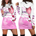 3D All Over Love Mom Butterflies Hoodie Dress Blanket - Amaze Style™-Apparel