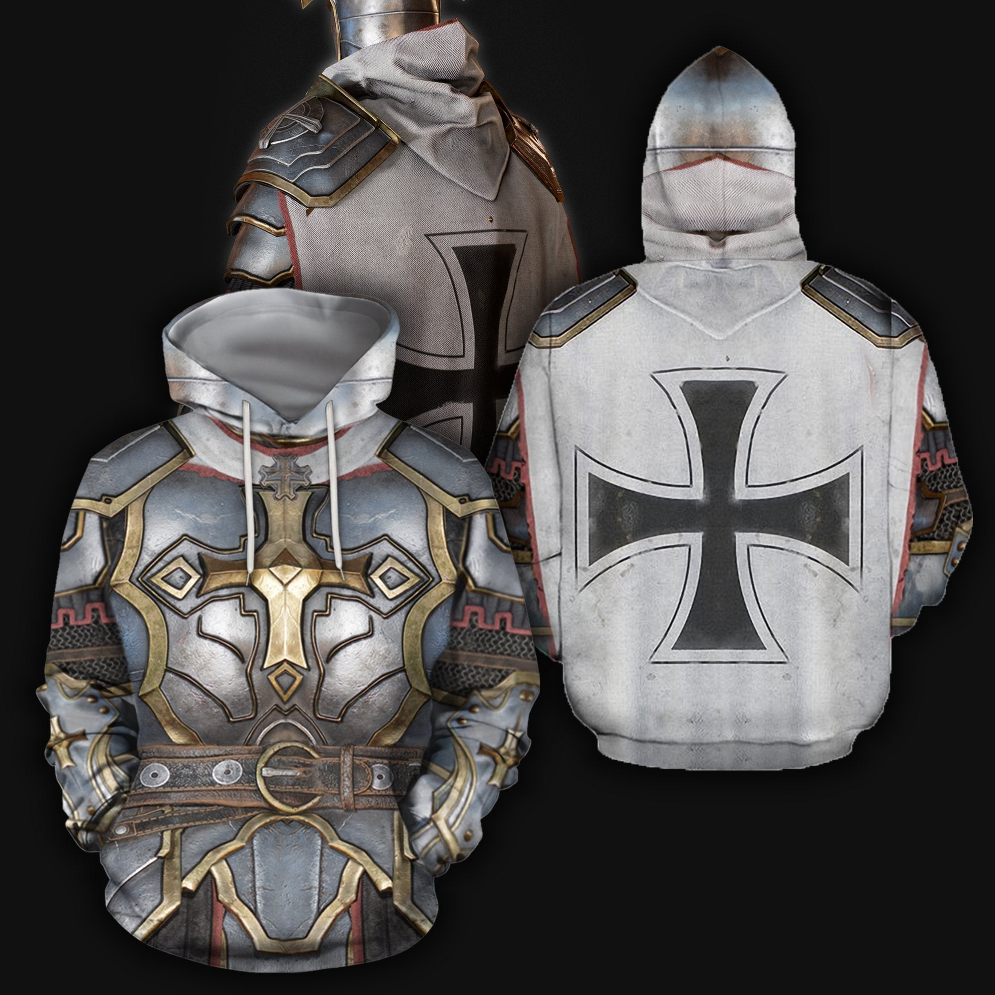 3D All Over Printed Knight Templar Tops - Amaze Style™-Apparel