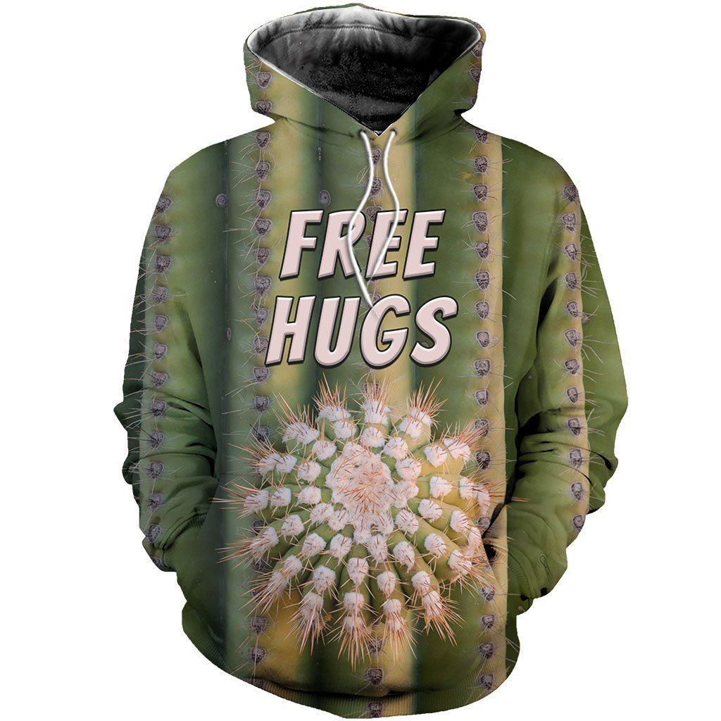 3D All Over Printed Brown Hugs Cactus Shirts - Amaze Style™-Apparel