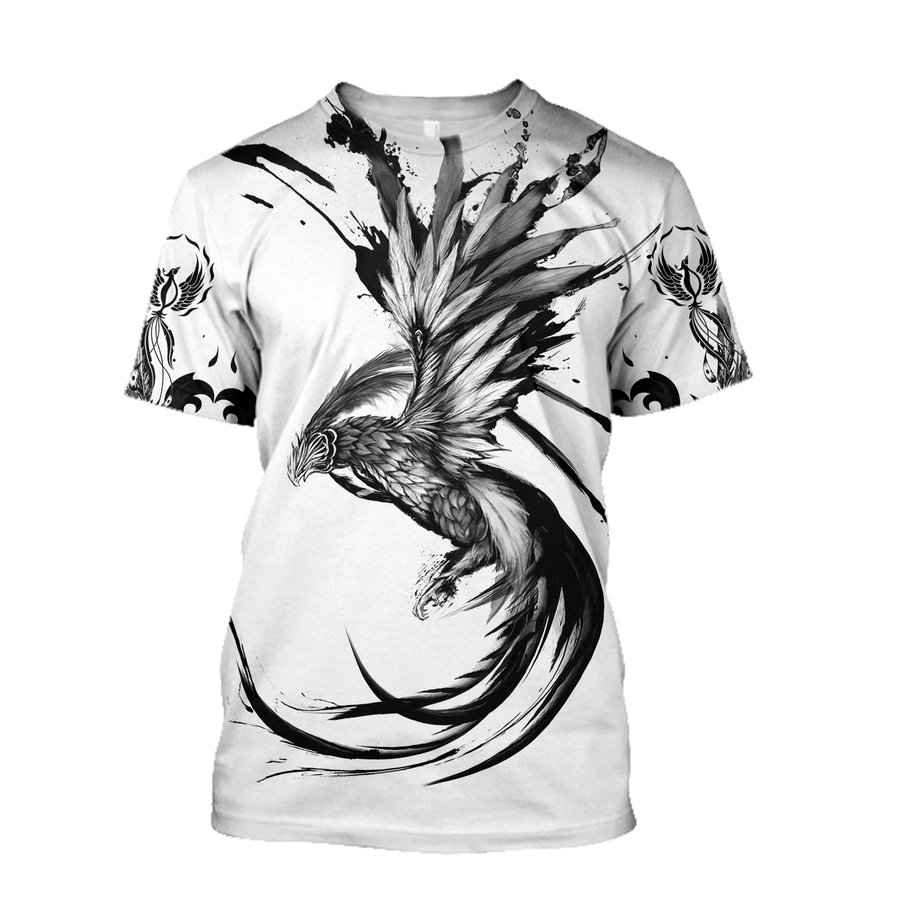 Phoenix Tattoo Style 3D All Over Printed T-Shirt by SUN AM220501 - Amaze Style™-Apparel