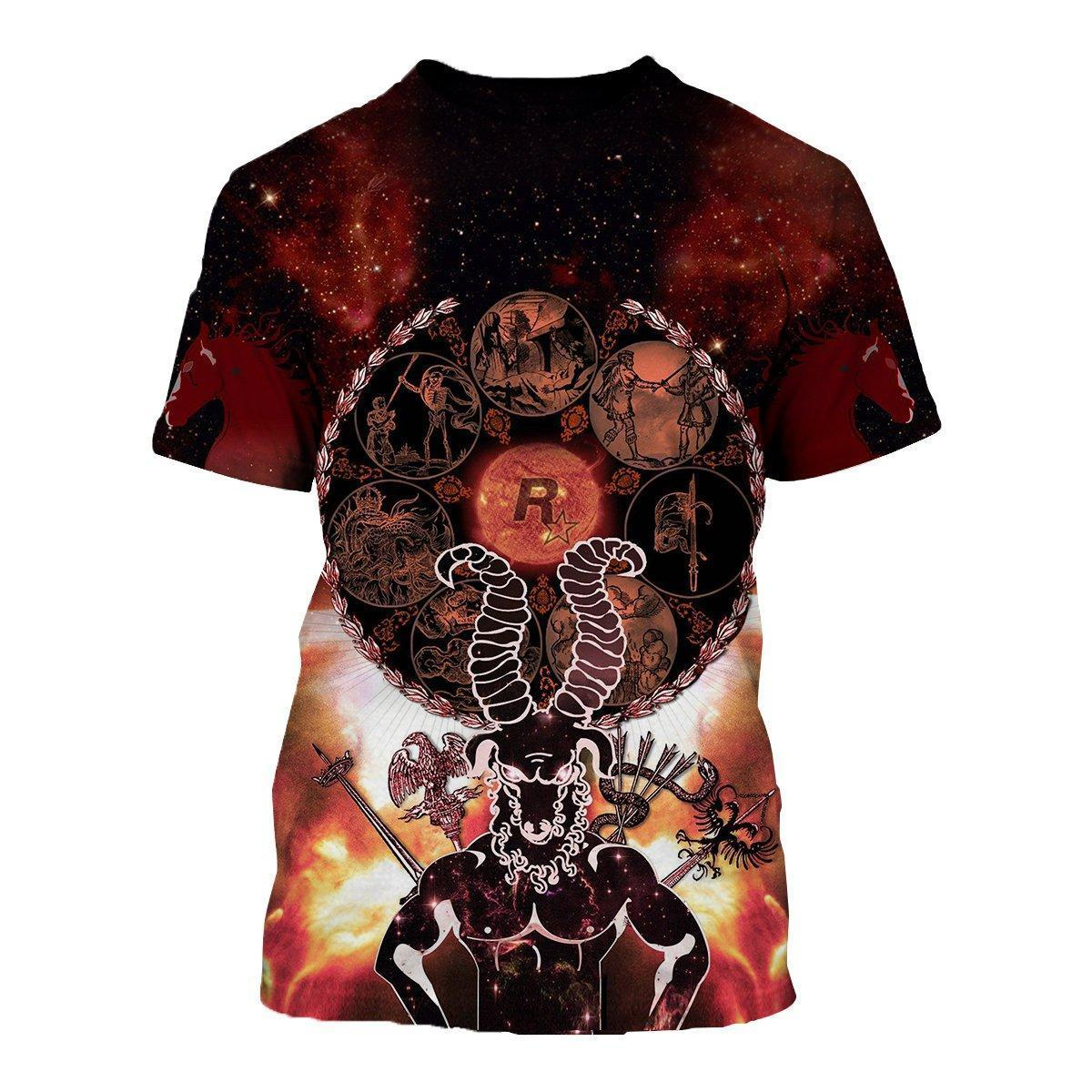 3D ALL OVER PRINTED ARIES T SHIRT HOODIE NTH150834 - Amaze Style™-Apparel