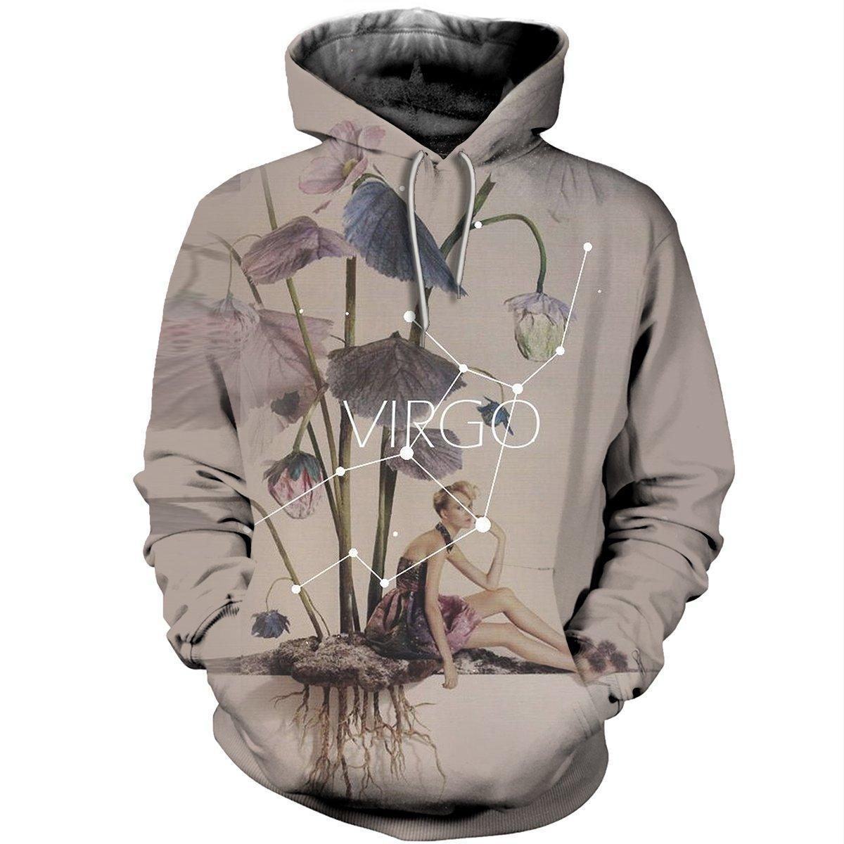 3D ALL OVER PRINTED VIRGO ZODIAC T SHIRT HOODIE NTH150824 - Amaze Style™-Apparel