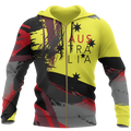 Australia Brush Athletic Style Aboriginal Colors Pullover Hoodie PL - Amaze Style™