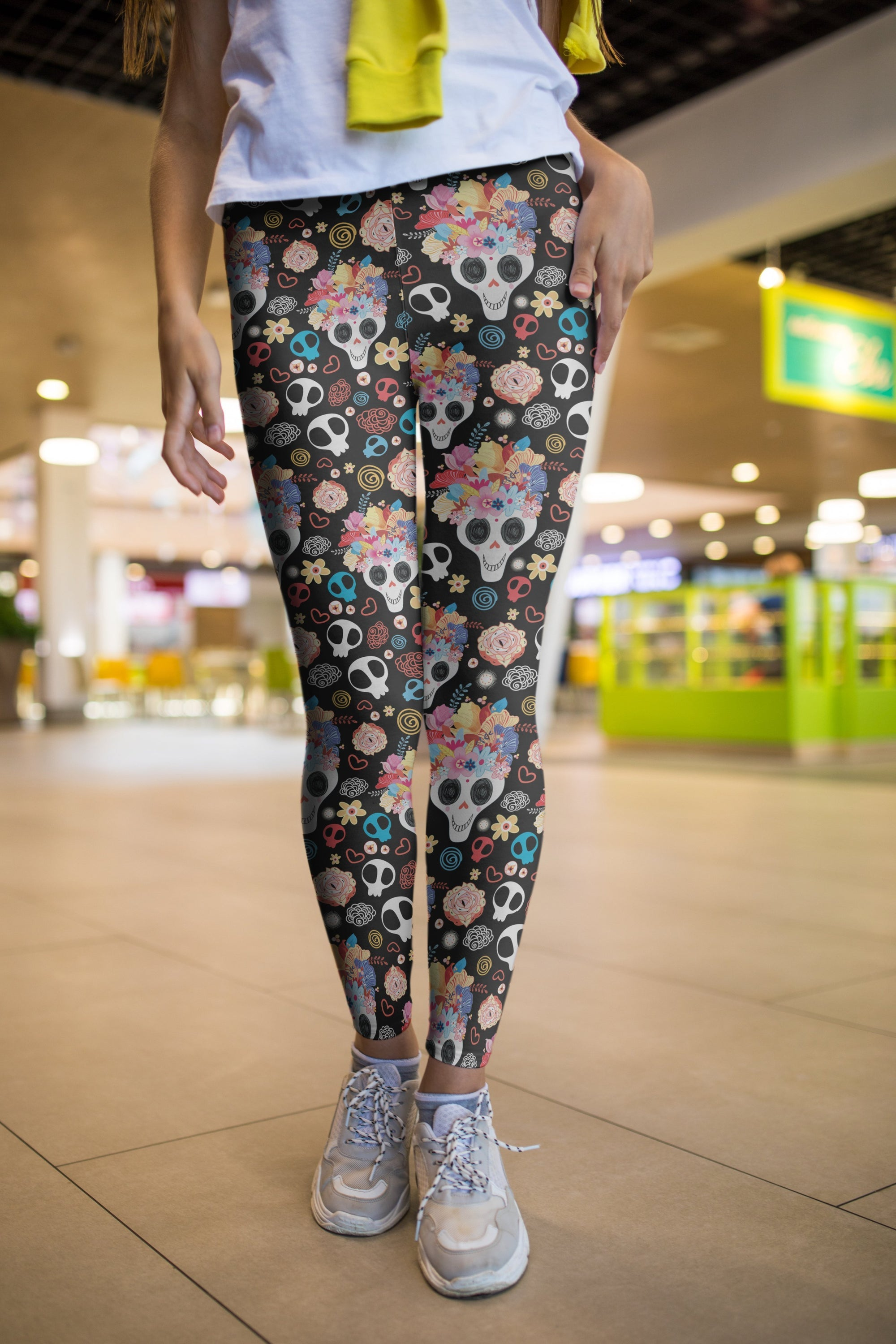 3D All Over Print Skull Flower Legging - Amaze Style™