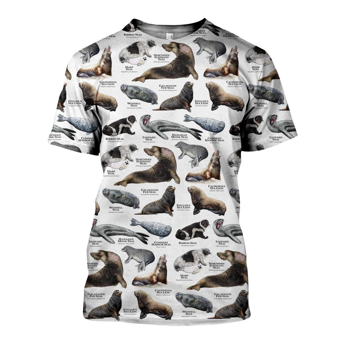3D All Over Printed Seals and Sea Lions Of The World Shirts and Shorts - Amaze Style™-Apparel