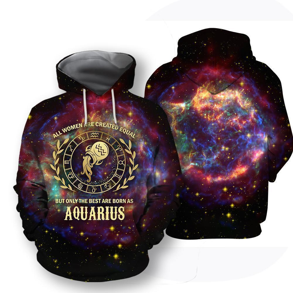 All Over Printed Aquarius Horoscope Hoodie - Amaze Style™-Apparel