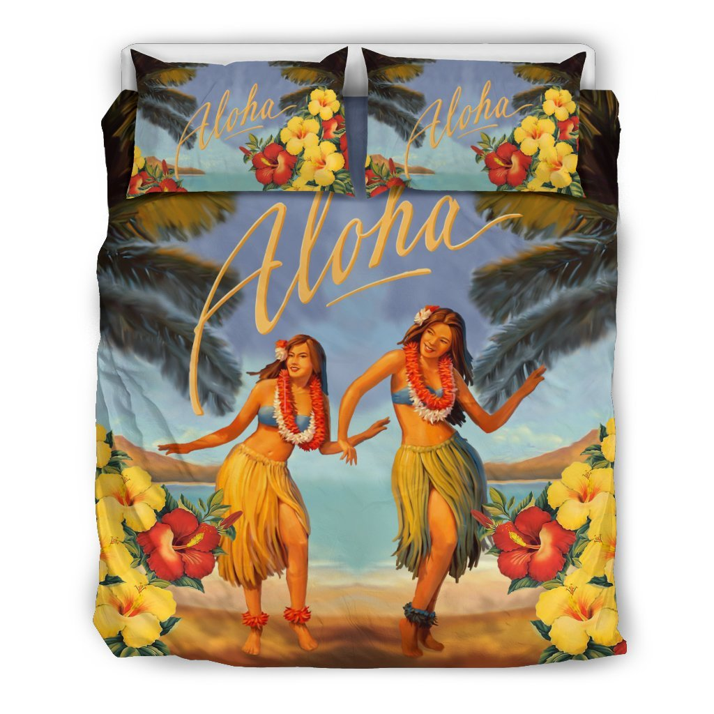 Aloha Hawaiian Bedding Set - AH - K5 - Amaze Style™-BEDDING SETS