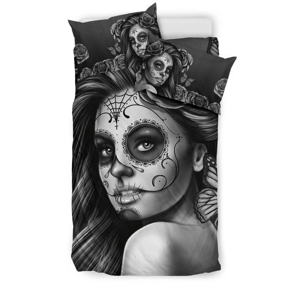 Bedding Set Calavera (Gray on Beige) - Amaze Style™-