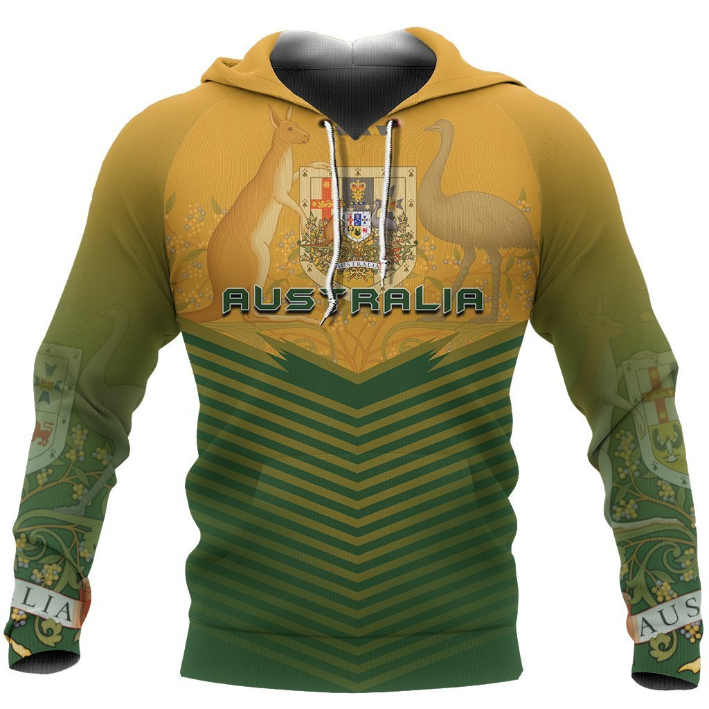 Australia Coat Of Arms Hoodie - Energy Style - Amaze Style™-Apparel