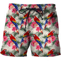 3D All Over Printing Scarlet Macaw And Flower Shirt - Amaze Style™-Apparel
