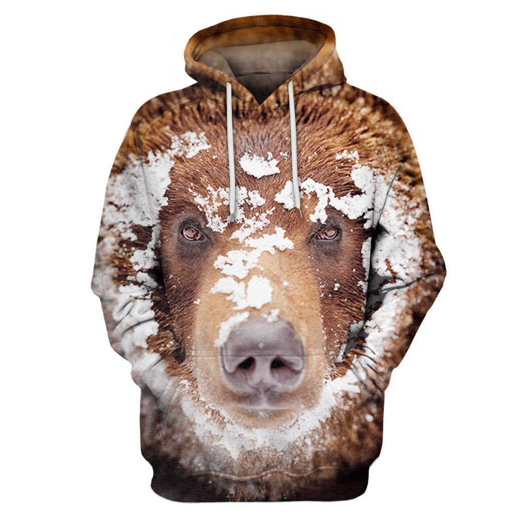 3D All Over Print Bear Hoodie - Amaze Style™-Apparel