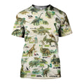 3D All Over Printed Dinosaurs Colleciton Shirts and Shorts - Amaze Style™-3D All Over Printed Clothes