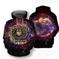 All Over Printed Cancer Horoscope Hoodie - Amaze Style™-Apparel