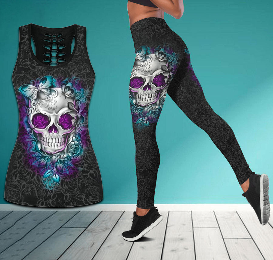 Skull Country Girl tanktop & legging camo hunting outfit for women PL250306 - Amaze Style™-Apparel