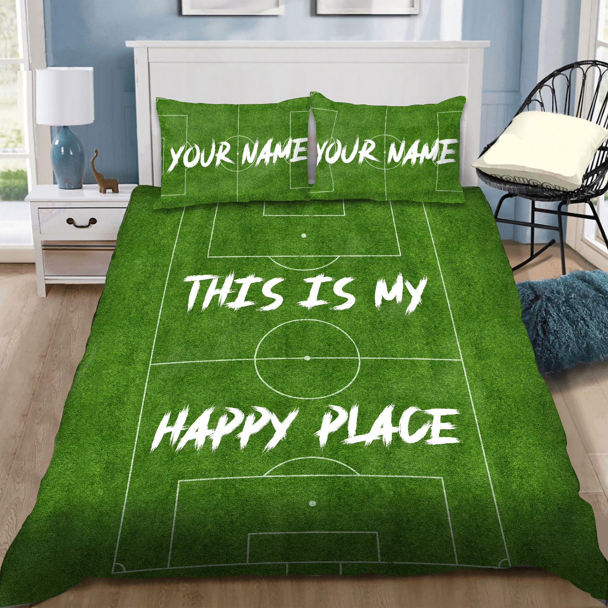 Soccer Love Custom Bedding Set with Your Name and Your Number DQB07102007 - Amaze Style™-Quilt