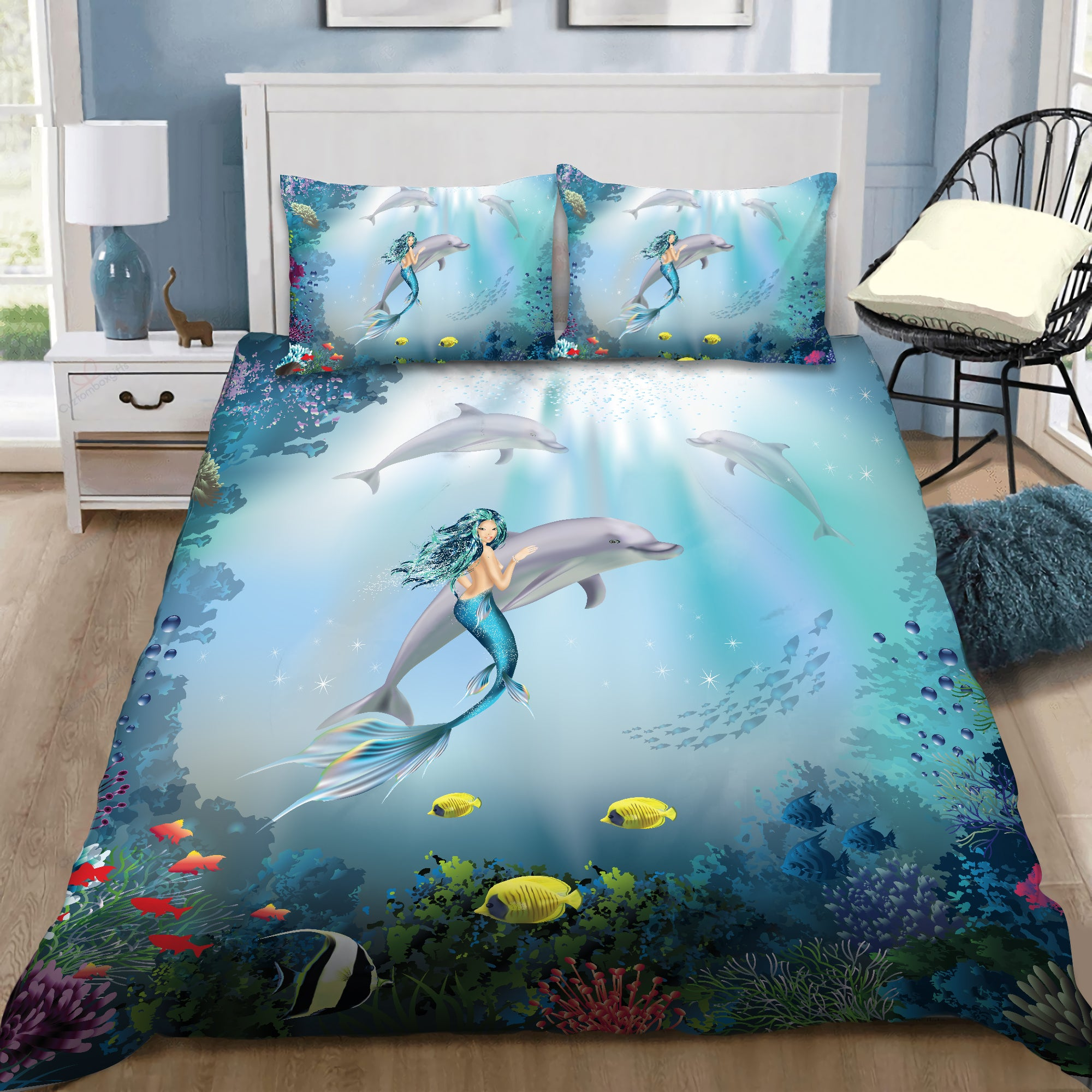 Be A Mermaid And Make Waves Bedding Set by SUN DQB07132002 - Amaze Style™-Quilt