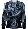 3D All Over Print Grey Dragon Hoodie - Amaze Style™