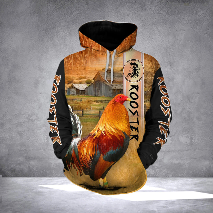 Premium Rooster 3D All Over Printed Unisex Shirts - Amaze Style™-Apparel