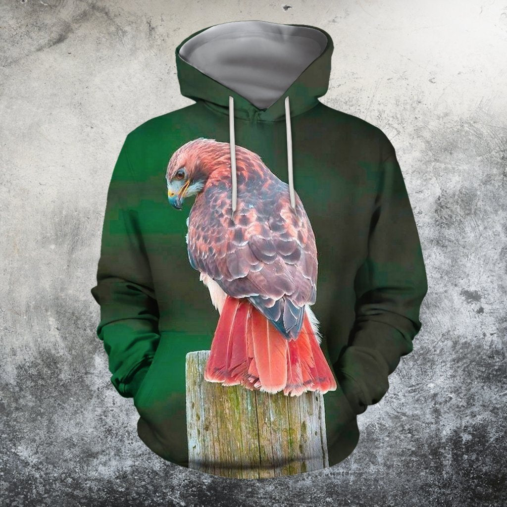 3D All Over Printed Red tail hawk Clothes - Amaze Style™-Apparel