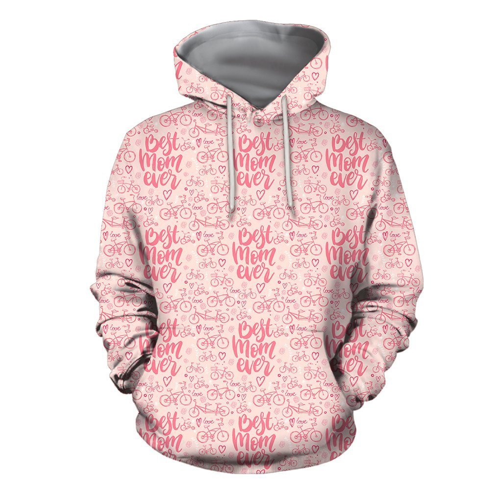 3D All Over Best Mom Ever Hoodie - Amaze Style™