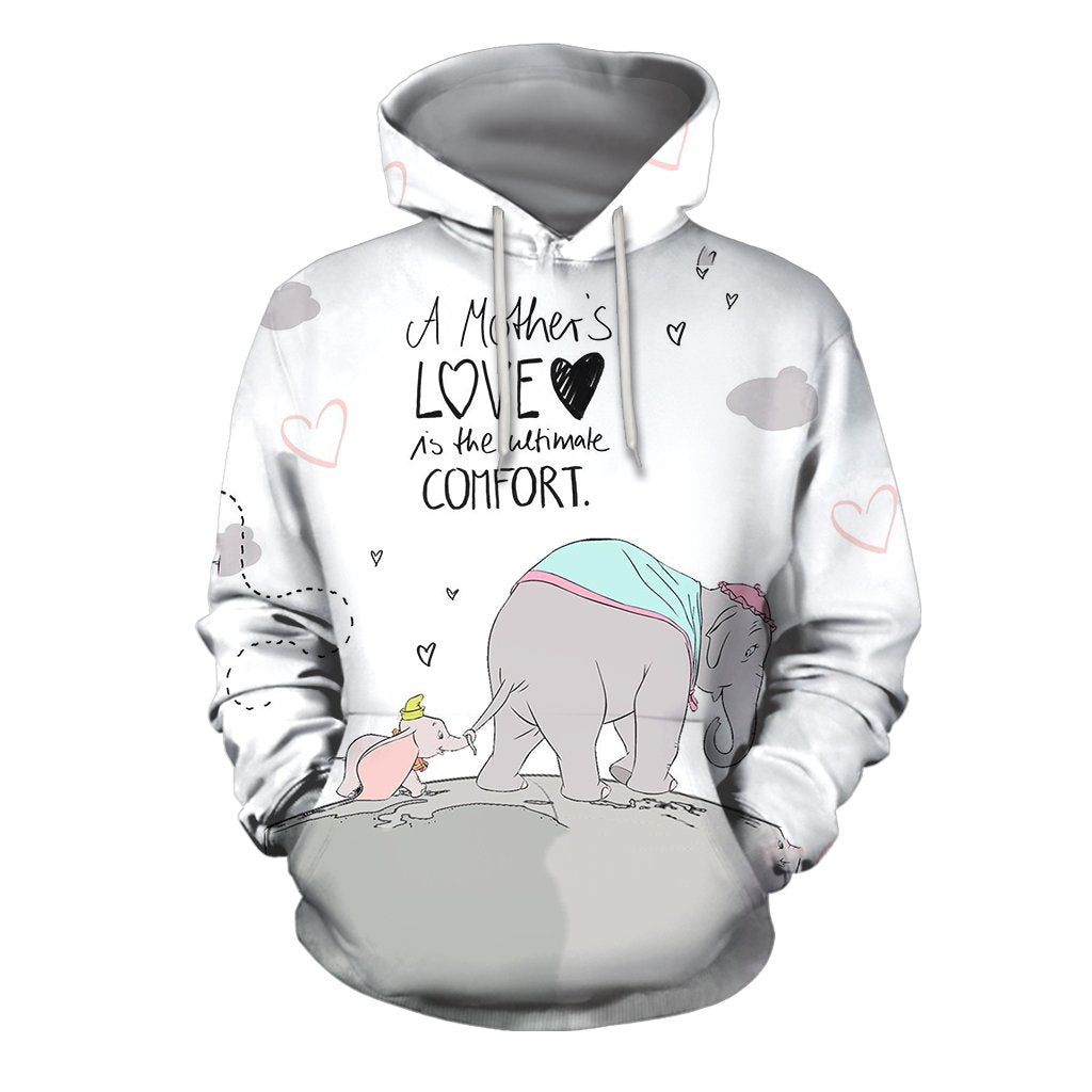 3D All Over Print Love Mother Elephant Hoodie - Amaze Style™