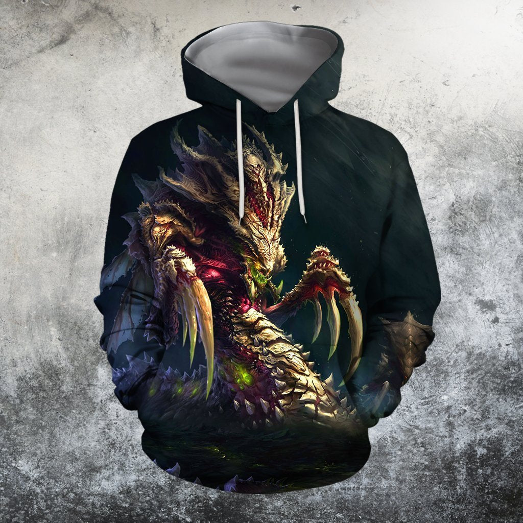 3D All Over Print Starcraft 2 Hydralisk Hoodie - Amaze Style™-Apparel