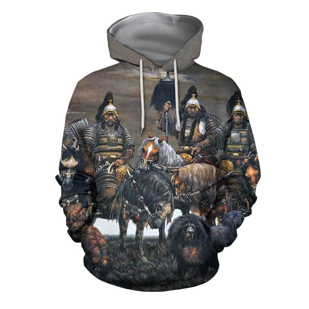 3D All Over Print Mongolia Warrior Hoodie - Amaze Style™