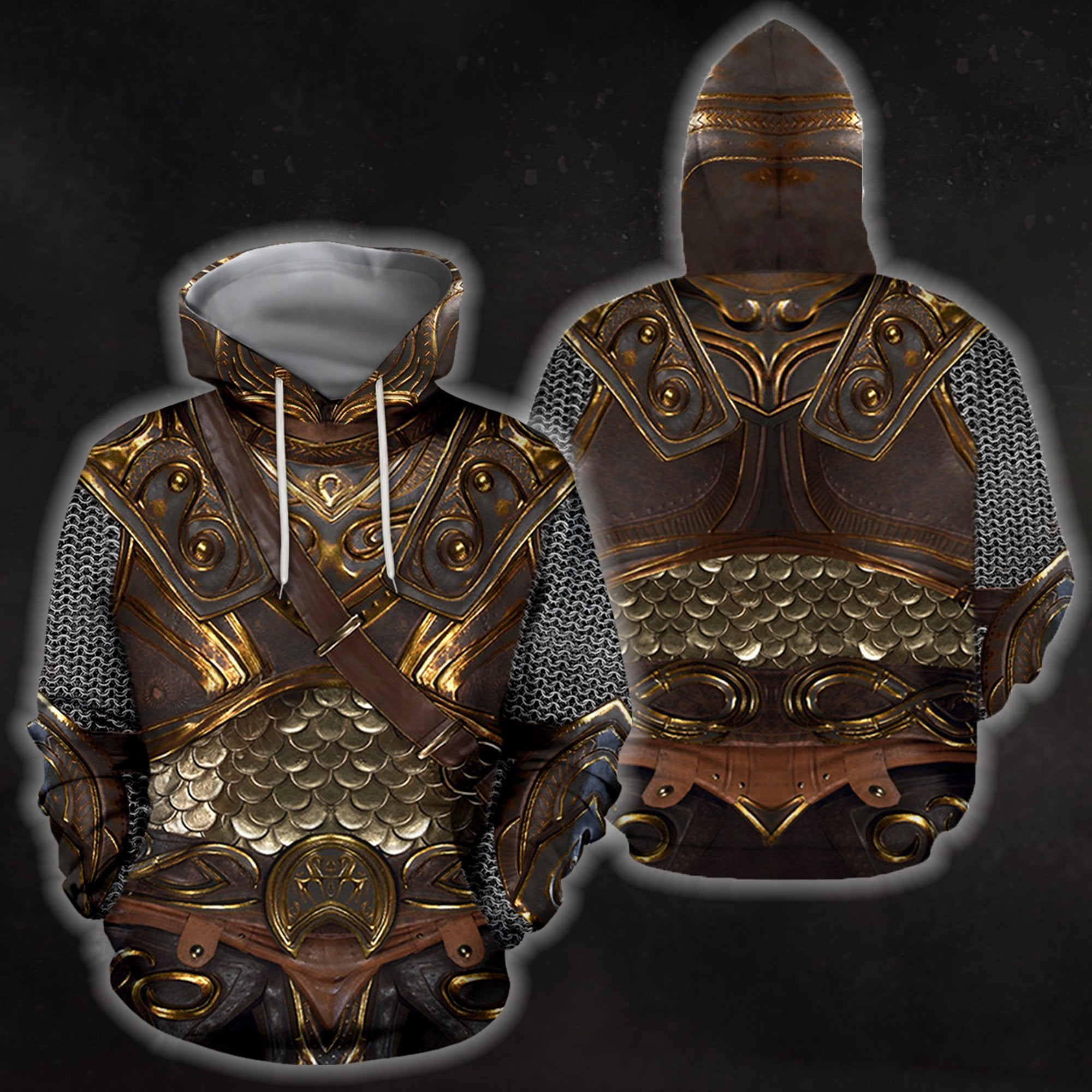 3D All Over Printed Breastplate 4 Hoodie - Amaze Style™