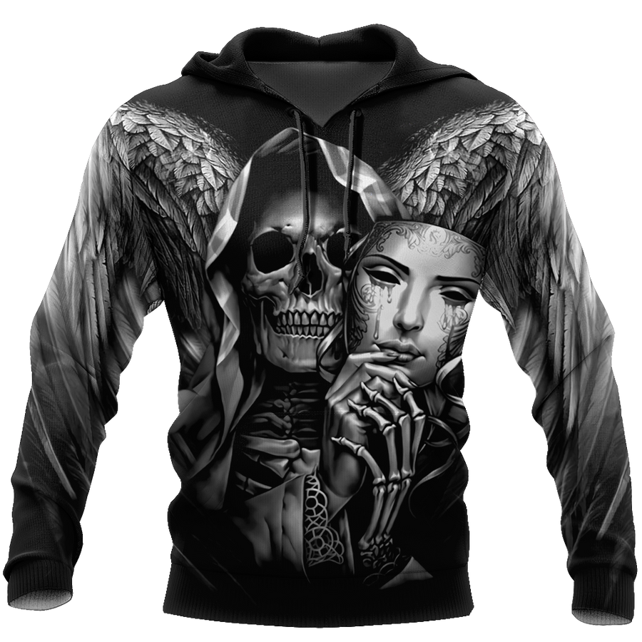 The Grim Reaper Skull 3D All Over Printed Shirts For Men and Women - Amaze Style™-Apparel