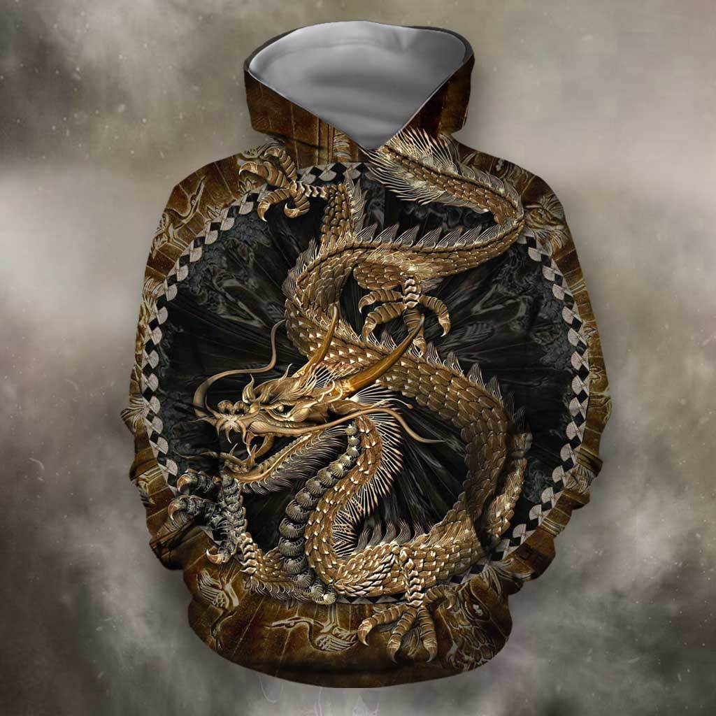 3D All Over Print Dragon in Chinese Hoodie - Amaze Style™