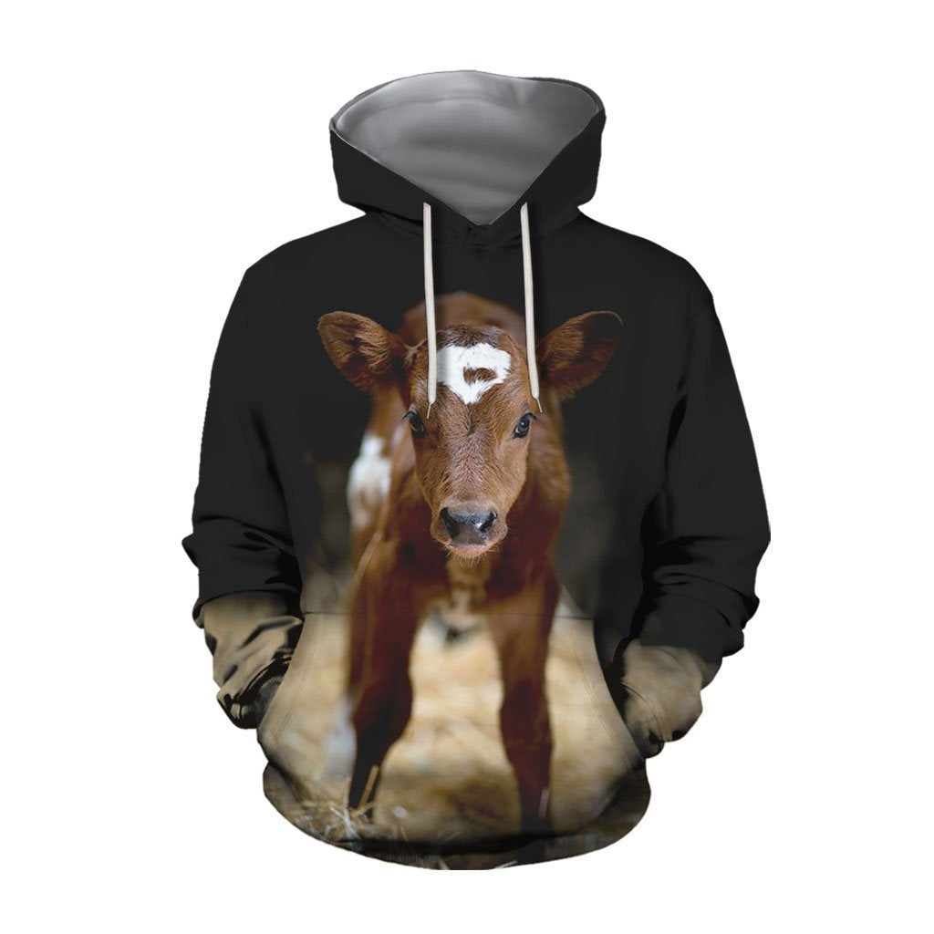 Beautiful Baby Cow Hoodie - Amaze Style™-Apparel