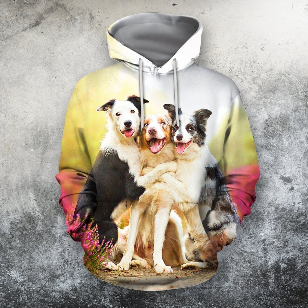 3D All Over Print Dog Zip Hoodie - Amaze Style™-Apparel