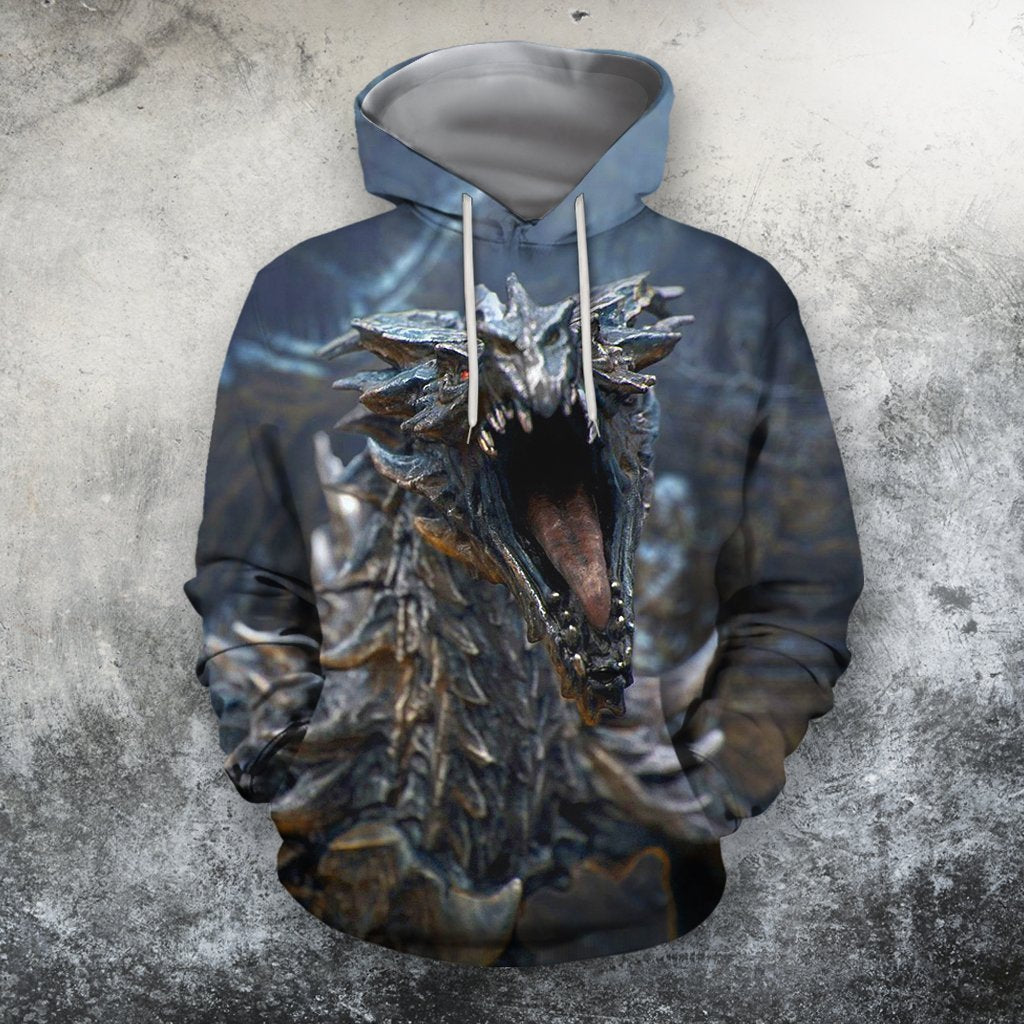 3D All Over Printing Alduin Skyrim Dragon Shirts - Amaze Style™