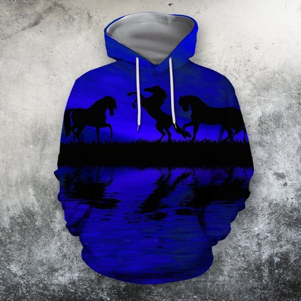 3D All Over Print  Animals Horse Hoodie - Amaze Style™-Apparel