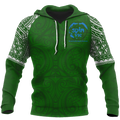 Special Green All Over Hoodie White K4 - Amaze Style™-Apparel