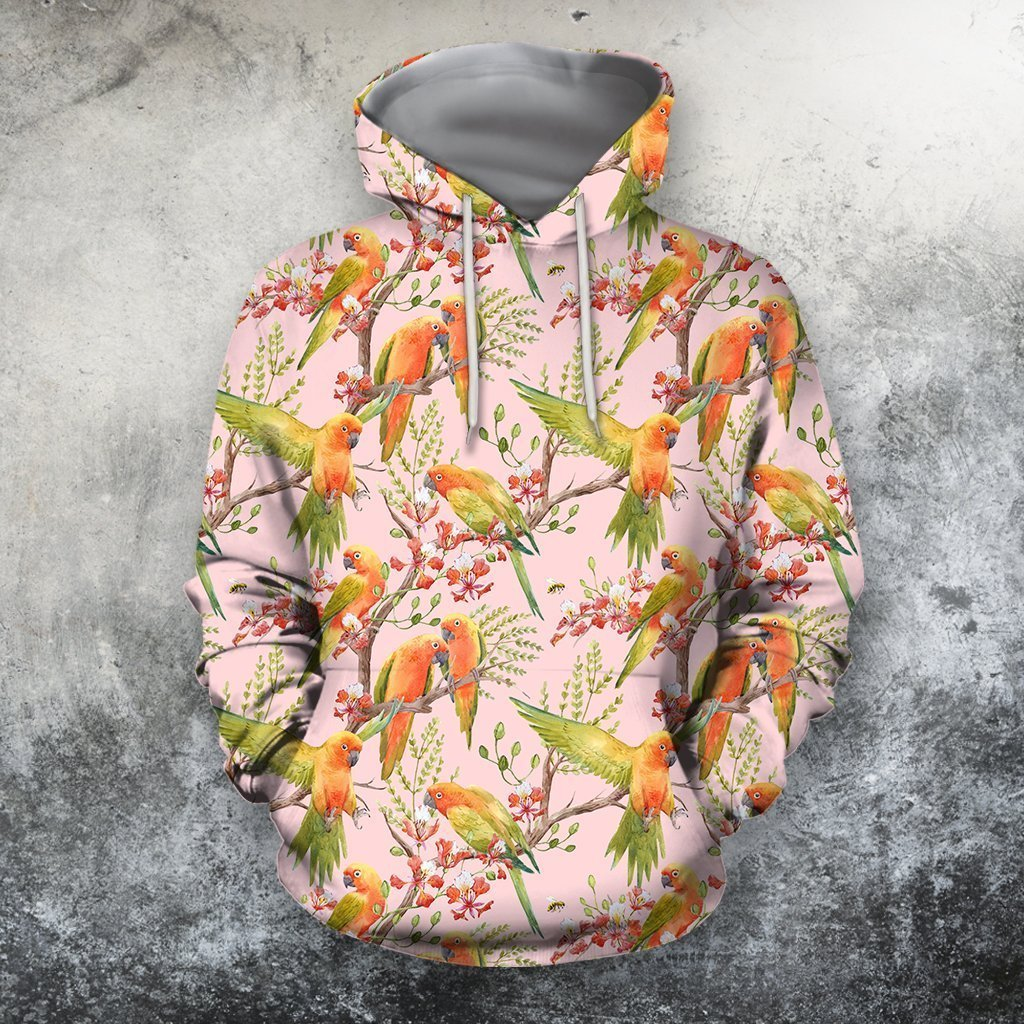 3D All Over Printing Sun Conure Parrot Shirt - Amaze Style™