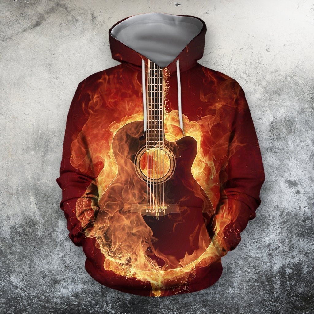3D All Over Print Red Guitar Shirts HG - Amaze Style™