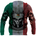 3D All Over Aztec Warrior Mexican 07 Hoodie - Amaze Style™-Apparel