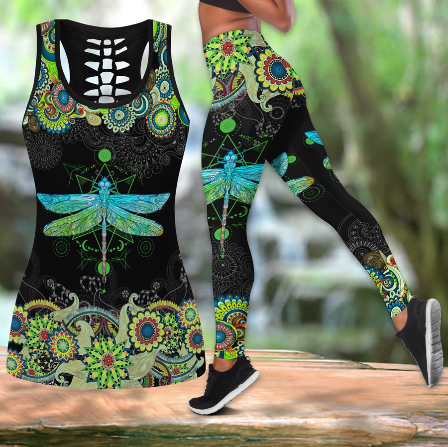 Beautiful Dragonfly Combo Tank + Legging JJ040401 - Amaze Style™-Apparel